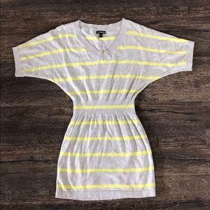 Express Batwing Striped Tunic Dress XS